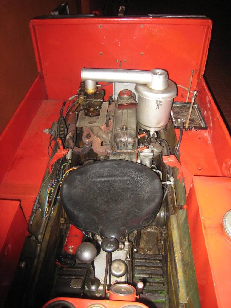 Blick auf den Originalmotor